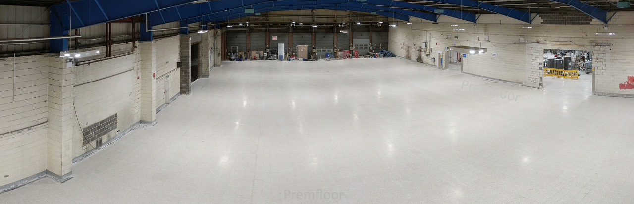 Panoramic shot of completed warehouse