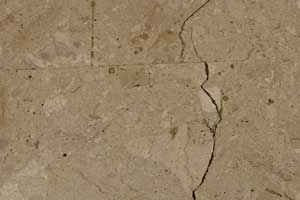 crack and damage in stone floor at house of fraser