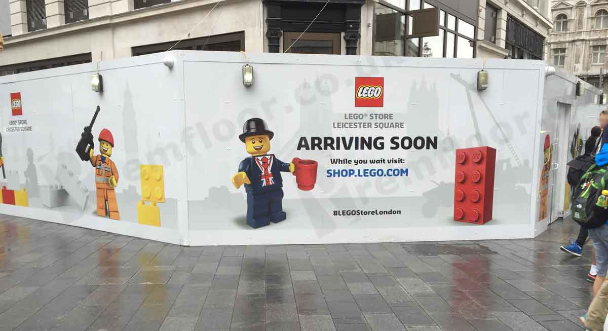 Lego Store Leicester Square - Coming Soon Banner