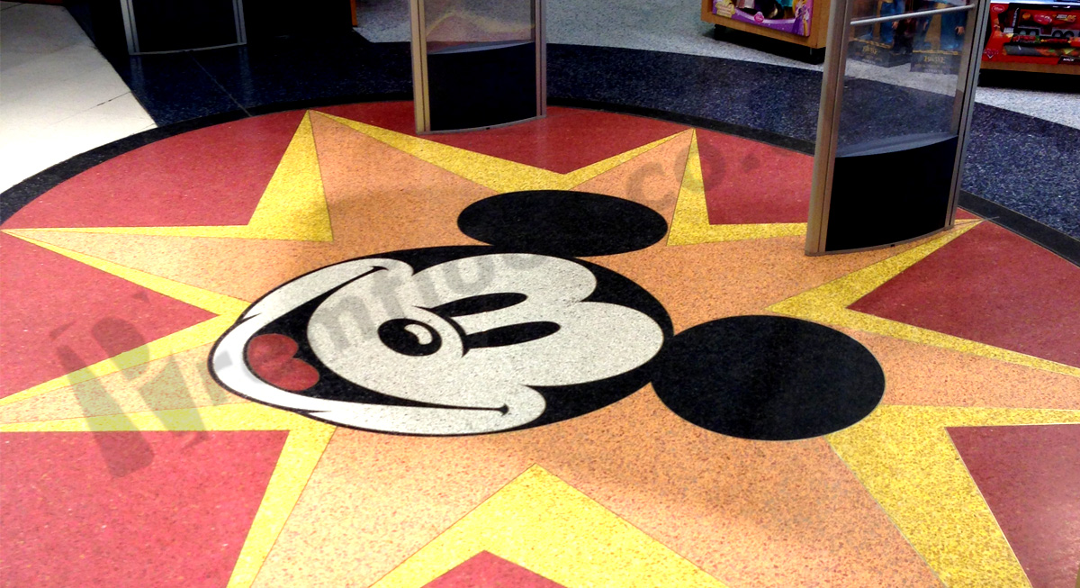 Picture of popular cartoon character recreated in resin terrazzo