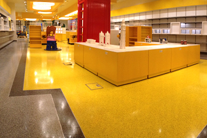 Resin terrazzo floor in a shopping & retail environment