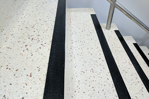 Well maintained terrazzo stairs