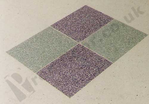 4 terrazzo tiles in a square with opposite colours
