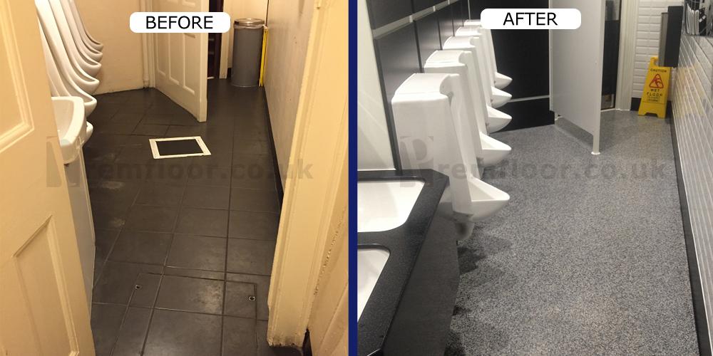Resin Terrazzo Theatre Toilets